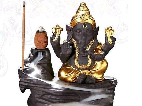 Ganesha Poly Resin Smokey Fog Fountain