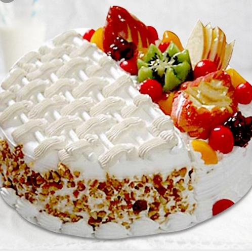 Creamy Fresh Fruit Cake 1 kg