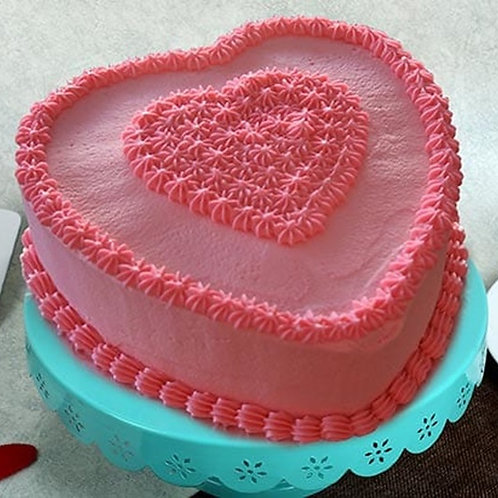 Beautiful Heart Shape Cake 1 Kg