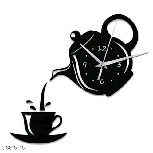 Cup and Kettle Wall Clock