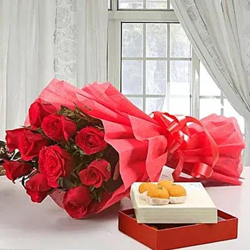 Red Roses and Motichoor Laddoo