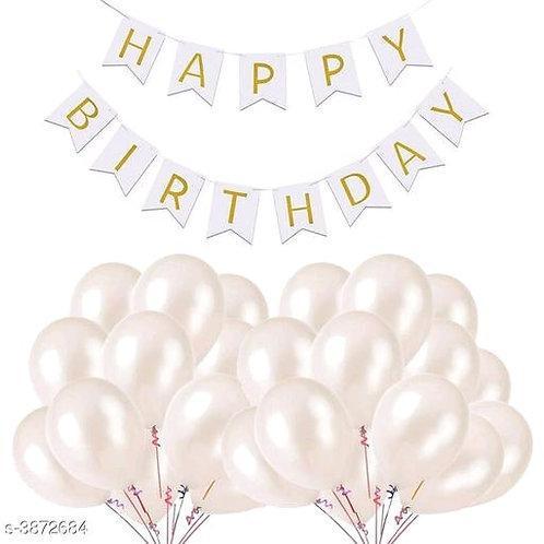 Trendy Birthday Balloon and Banner