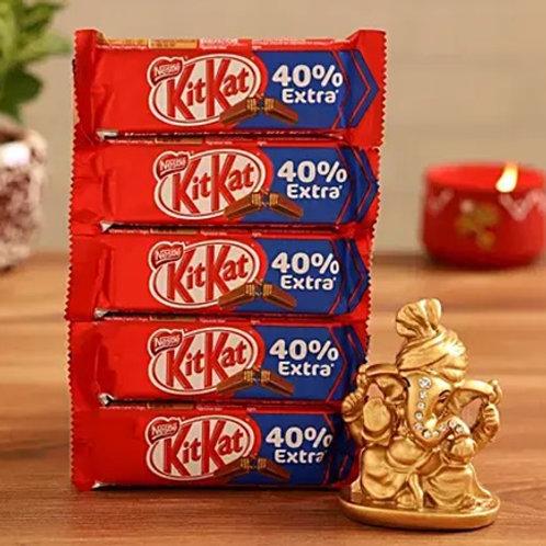Ganesha Idol and Kitkat Combo