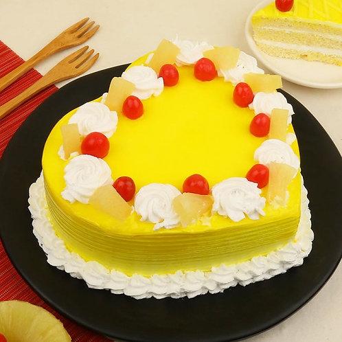Heart Shape Rich Pineapple Cake