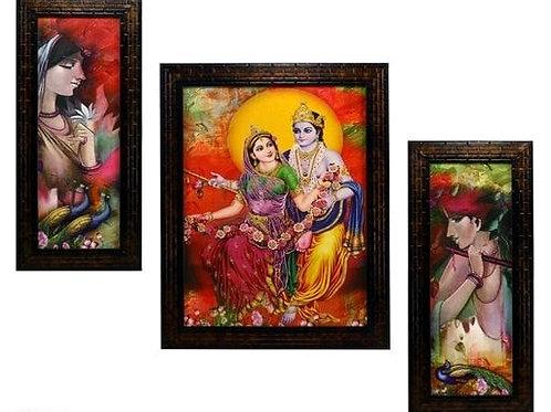 Spiritual Krishana Wall Painting