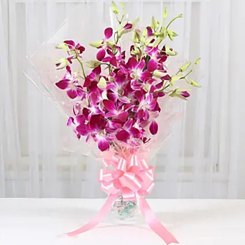 6 Royal Orchids Bunch