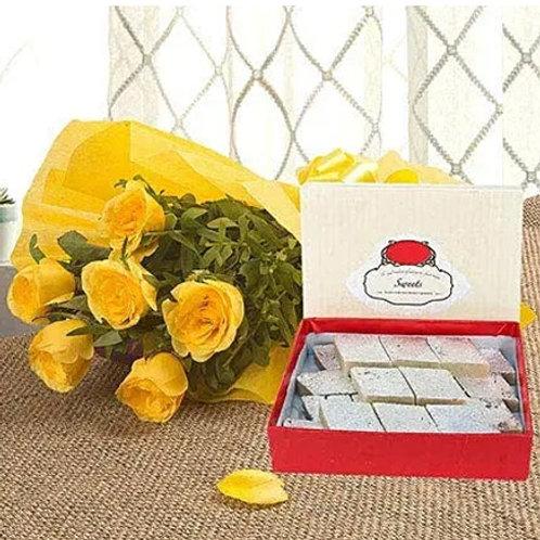 Yellow Roses and Kaju Katli