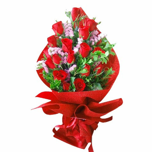 Red Rose Bouquet (12 Stems)