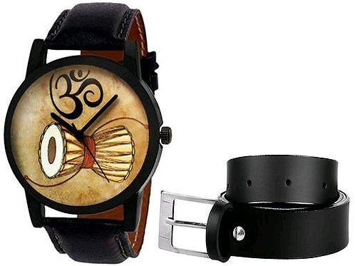 Gorgeous Trendy Men Watch and Belt Combo