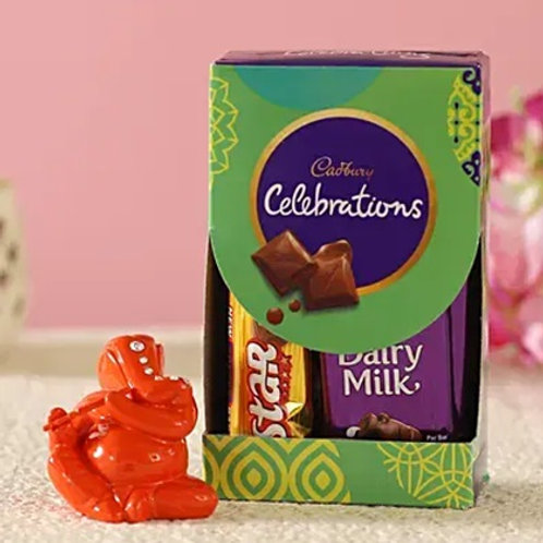 Festive Ganesha and Cadbury Combo