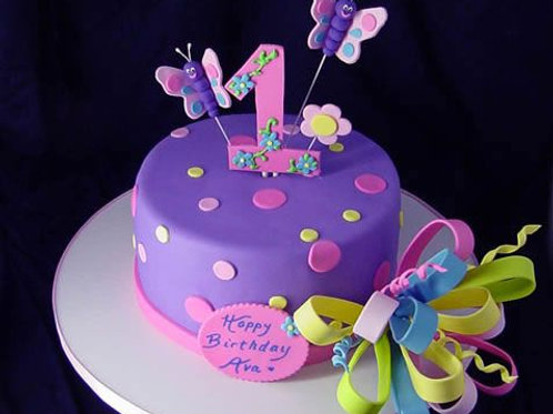 Beautiful First Birthday Cake For Girl