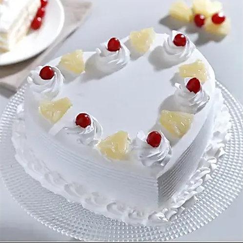 Heart Shape Pineapple Cake
