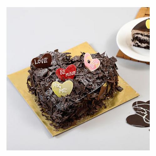 Heart Shape Chocolate Blast Cake