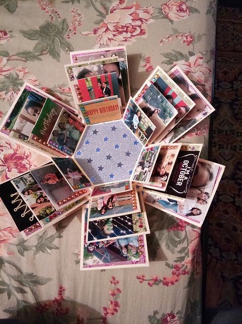4 Layer Photo Explosion Box - Handmade