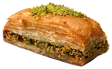 Baklava with pistachios catered catering cater events parties wedding delicious fresh authentic light crisp natural healthy home-made hand-made family-owned baklava
