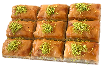 9-piece Family Baklava delicious fresh authentic light crisp natural healthy home-made hand-made family-owned baklava
