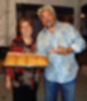 Owner of Bosphorus Bakery, catering event with Guy Fieri, at Robert Cohn Winery, serving baklava