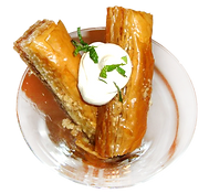 Baklava with crème fraiche delicious fresh authentic light crisp natural healthy baklava