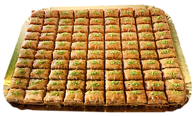 90-piece tray catering events rectangle-cut regular-cut Baklava delicious fresh authentic light crisp natural healthy home-made hand-made family-owned baklava