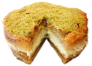 Baklava cake cream custard catered catering cater events parties wedding delicious fresh authentic light crisp natural healthy home-made hand-made family-owned baklava