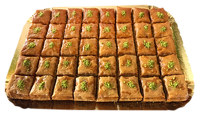 40-piece tray catering events square-cut Baklava delicious fresh authentic light crisp natural healthy home-made hand-made family-owned baklava
