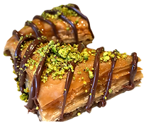 Baklava with nutella delicious fresh authentic light crisp natural healthy baklava
