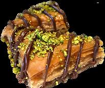 Baklava with nutella delicious fresh authentic light crisp natural healthy baklava