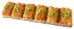 6-piece Treats Baklava delicious fresh authentic light crisp natural healthy home-made hand-made family-owned baklava