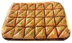 48-piece tray cateri triangle-cut twin-cut Baklava delicious fresh authenng eventstic light crisp natural healthy home-made hand-made family-owned baklava