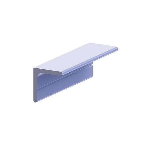 Guía inferior plata mate armario plegable corredero 3 metros