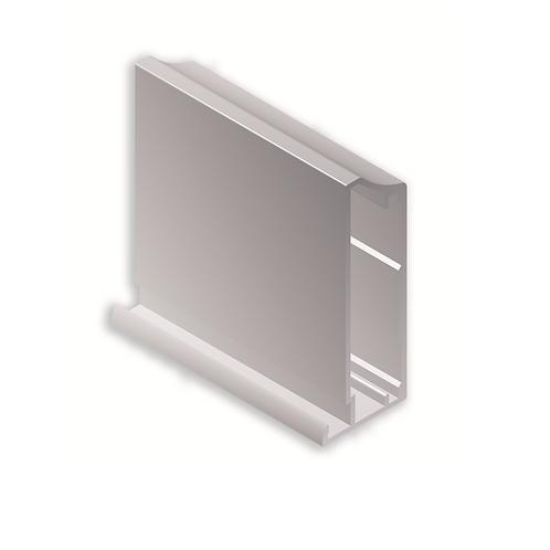 Perfil vitrina 51x20x3ref 43C412 Blanco brillo 3,25 metros
