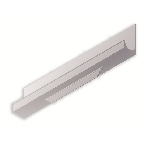 Tirador corrido L 35x16 Blanco brillo de 147 mm