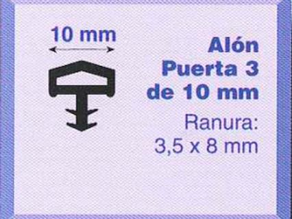 P.V.C. ALON PUERTA 3/10 Negro