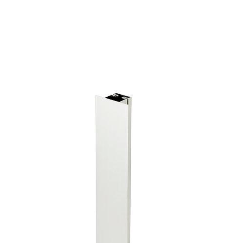 Tirador Gola plano vertical central Plata mate