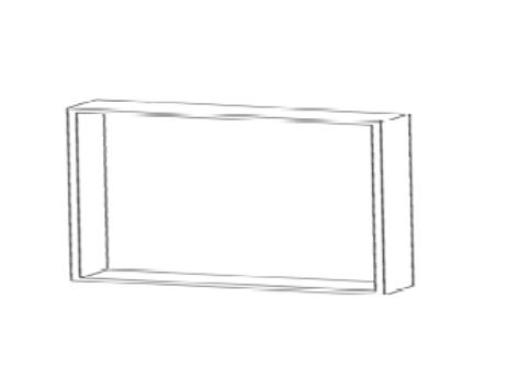 Mueble alto frigorífico H450xF350xA900con 1estante de cristal