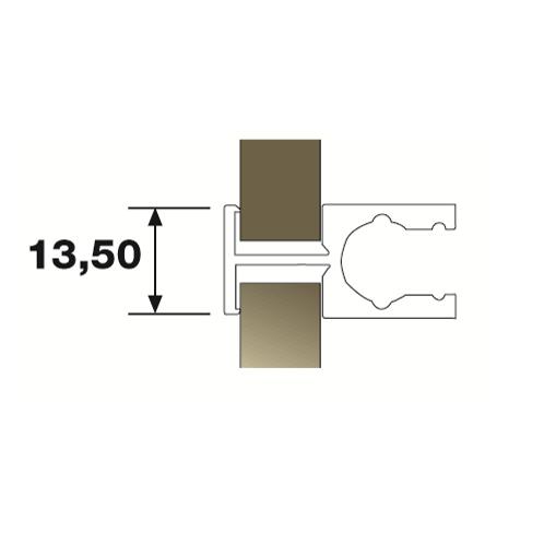"""Sistema SH - Puerta """"Fai da te"""" -Perfil parteluces puerta en plata mate"""