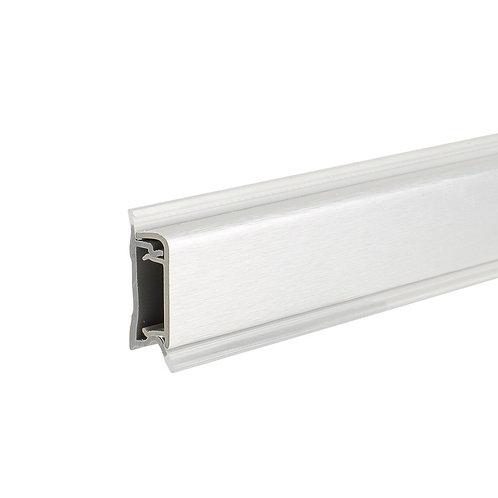 Copete 5501 aluminio 22x10 mm Plata mate