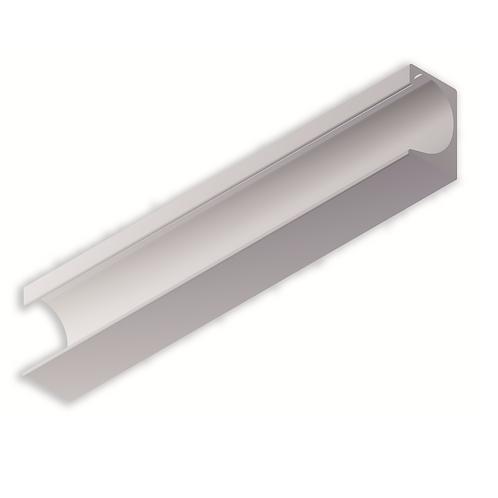 Tirador corrido adhesivo 30x18,5+0,5 Plata mate de 498 mm