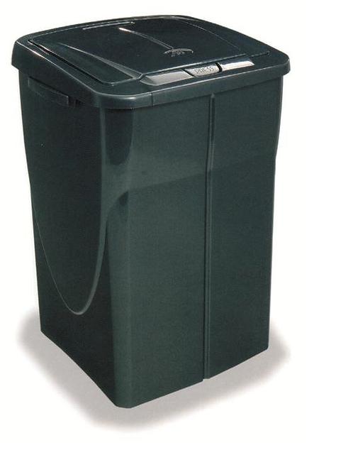 Cubo de basura 45 litros tapa negra