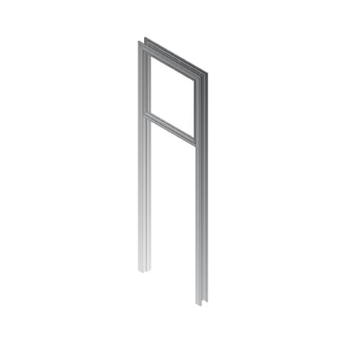 Puerta forro R-06 con fijo superior plata mate