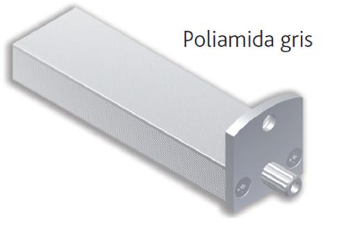 Barra bajo fregadero estriada M35Melamina de 19 tapa poliamida