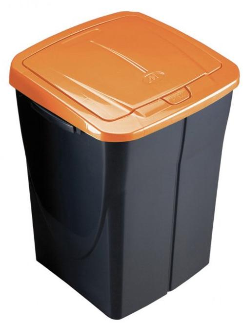 Cubo de basura 45 litros tapa naranja