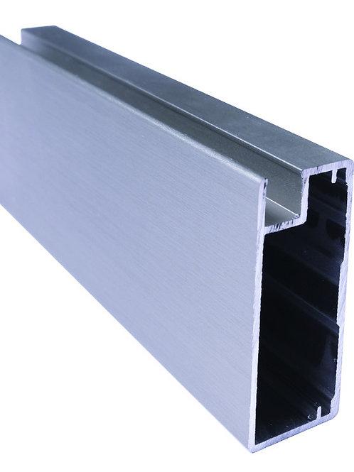 Perfil vitrina 45x20,5x45Ref 43C408 Inox3,25 metros