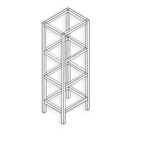 Estructura 30x30 Plata mate Tipo 5