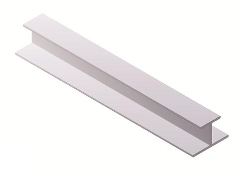 Parteluces 10 mm Modelo Min 6 metros Blanco brillo