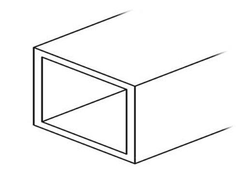 Perfil tubo rectangular 80X40 Bruto 6,300 metros