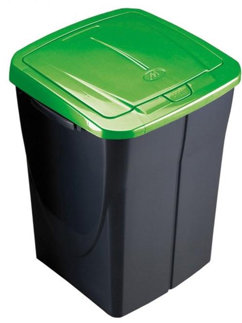 Cubo de basura 45 litros tapa verde