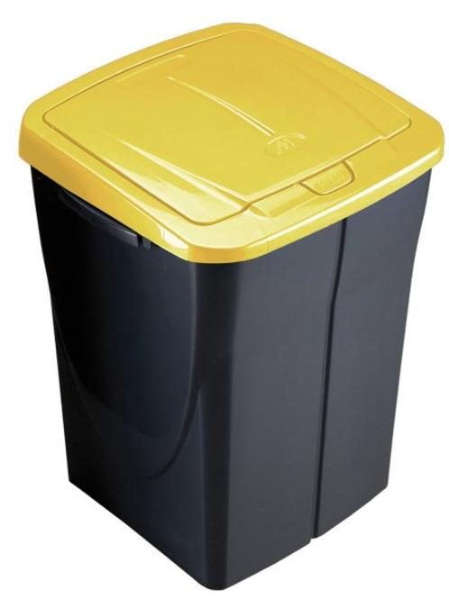 Cubo de basura 45 litros tapa amarillo