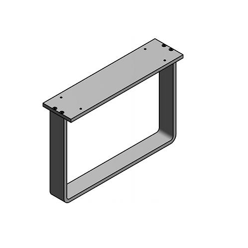 Pata módulo doble en aluminio H280 Plata mate