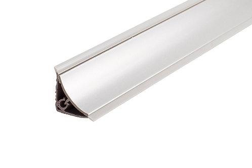 Copete cóncavo 1/2 caña PVC Plata brillo